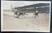 Mint Usa Real Picture Postcard Rodeo Cowboys Bate Photo
