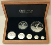 2018 Silver Libertad 7 Coin Proof Set 5 Oz 2 Oz 1 Oz And Fractional. 8.9 Ounce
