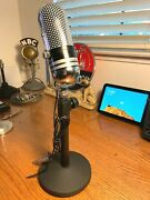 1960and039s Realistic 33-929 Pill Microphone - Upgraded Sound W/stand Calrad-aiwa