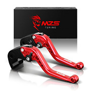 Mzs Short Brake Clutch Levers For Yamaha Yzf R1 2004-2008 / Yzf R6 2005-2016 Red