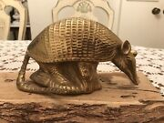 Solid Brass Armadilloandnbsp Figurine- Cast Brass -great Detail - Made In India