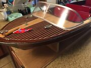 Old Dumas Craft Chris Craft Radio Boat With Stand - Need Radio And Tlc