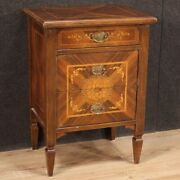 Nightstand Antique Style Louis Xvi Furniture Commode Dresser Inlaid 3 Drawers