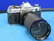 Canon Ae-1 With A 70-210mm Vivatar Lens As-is Untested