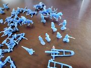 Lot Of Vintage Cowboys And Indians Plastic Mini Figures Horses Over 60