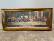 Last Supper Framed Picture 60.5andrdquo X 27andrdquo