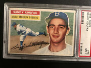 1956 Topps Sandy Koufax Dodgers 79 Psa 7 Nm White Back Card Is Perfect
