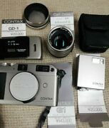 Contax G1 Body And Carl Zeiss Film Digital Camera Photography Japan Beautiful