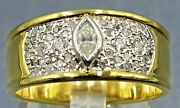 Mens Ring 9ct Gold And Diamond Wedding Engagement Tuscany Style Vintage