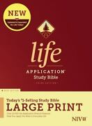 Niv Life Application Study Bible, Third Edition, Large Print Red Letter, Hardco