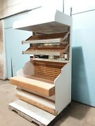 Heavy Duty Commercial Wooden Lighted Open Vertical Bakery Donut Display Case