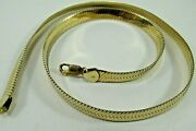 10k Solid Yellow Gold Herringbone Chain Link Necklace 20 Long Save 1900 1588