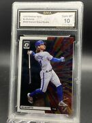 2020 Optic Stained Glass Bo Bichette Rookie Card Gma Gem Mint 10 -0065-