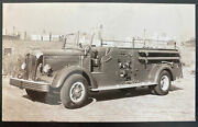 Mint Usa Real Picture Postcard Fire Truck Long Island City Ny