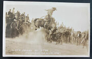 Mint Usa Rppc Real Picture Postcard Slats Jacobs On Star Doubleday Photo Rodeo