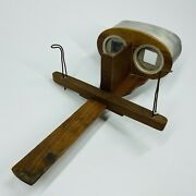 Rare Antique Wood Stereoscope Stereograph Stereo Viewer- Kawin And Co Patent 1902