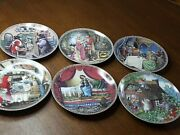 Lot Of 6 Knowles Disney Limited Ed. Collector's Porcelain Plates From 1988 1989