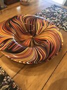New Missoni For Target Blown Glass Deco Art Deco Large Platter Rare Collectible