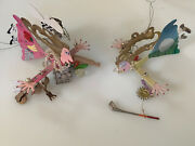 Lot Of 2 Karen Rossi Silvestri Fanciful Flights Ornaments - Chef And Golfer Woman