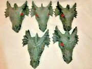 Dragon Gargoyle Wall Sculpture Lot Of 5 Poly Resin 9, Two Hanging Options