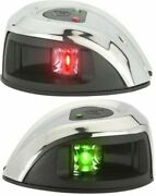 Nv1011ss Attwood Stainless Steel Marine Boat 2nm Led Navigation Bow Light Pair