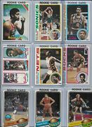 1970and039s Nba Rookie Lot Of 9 Moncrief King Sikma Lucas Davis Johnson Theus Ex