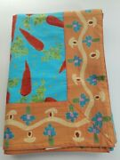 Foreside 100 Cotton Made In India Tablecloth, Carrots Farmhouse Rectangle 84x52