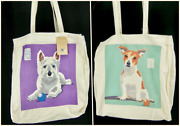 Cotton Shopping Tote Bag Jack Russell West Highland Terrier Dog 16 Washable