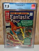 Fantastic Four Annual 4.1st Appearance Of Silver Age Human Torch W/pgs. Cgc 7.5