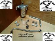 Oil Filter Canister Kit With Cadmium Oil Lines For Harley Panhead 1948-1957