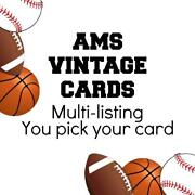 1962 Post Cereal Football. Complete Your Set. Pick Your Card.