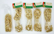 Vintage Woolworthand039s Gold Mercury Glass Christmas Garland Made In Japan