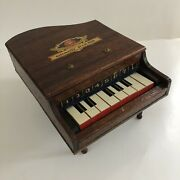 Vintage 1930s Best Maid Toy Grand Piano Wooden Childandrsquos Antique Play Instrument