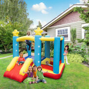 Inflatable Bounce House Slide Kids Jumper Bouncer Castle W/480w Blower Carry Bag