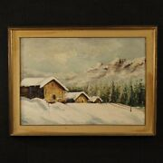 Painting On Canvas Italian Landscape Antique Style Signed Framed Oil Signed