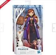 Disney Frozen 2 Storytelling Doll Anna + Olaf Figure And Backpack Free Pandp