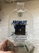 Absolute Vodka Melted Glass Bottle Clock Working