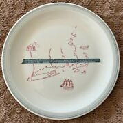 Very Rare Antique New Haven Railroad Buffalo China 8.5 Inch Dinner Plate F10
