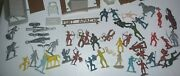 Huge Vintage Louis Marx And Co. Fort Apache Playset - 600+ Pieces - 1960and039s - Nice
