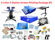 Diy Big 4 Color 4 Station Screen Printing Package Kit For Small Screen Printing
