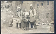 Mint Usa Rppc Real Picture Postcard Native American Indians With Visitor