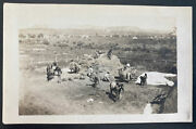Mint Usa Rppc Real Picture Postcard Native American Indian Bringing Hay