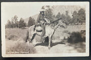 Mint Usa Rppc Real Picture Postcard Native American Indian Mail Carrier