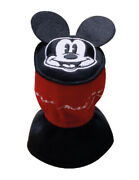 Mickey Mouse Car Gear Hand Shift Knob Cover Red Black Fabric Protector With Logo