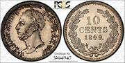 Netherlands William Ii 1849 10 Cents Coin, Uncirculated, Pcgs Certified Ms64
