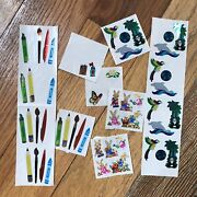 Lot Sandylion Mylar Prism Sticker Sheets Andbull Writing Tools Earth Easter Bunny 50pc