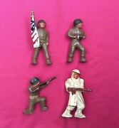 Barclay Lead Figures Army Soldiers Lot Of 4