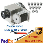 Cnc Router Axis 4th Axis Hollow Shaft Engraving Machine + Er32 Chuck Kit 320mm