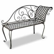 Usa Garden Chaise Lounge Brown Metal Antique Scroll-patterned Patio Outdoor