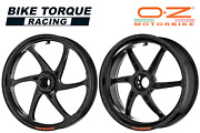 Oz Gass Rs-a Black Forged Alloy Wheels To Fit Ducati Panigale V4 18-20